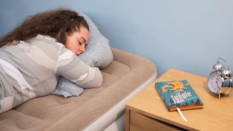 stomach sleeping airbed