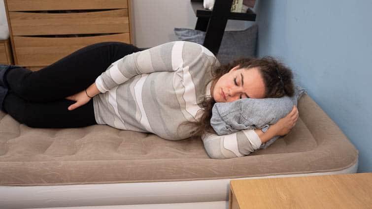 side sleeping airbed