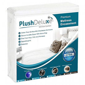 PlushDeluxe Premium Zippered Mattress Encasement