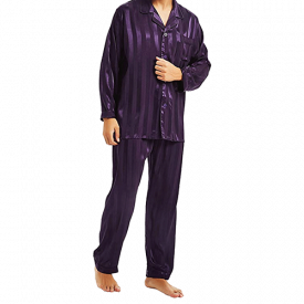 Lonxu Mens Satin Pajama Set