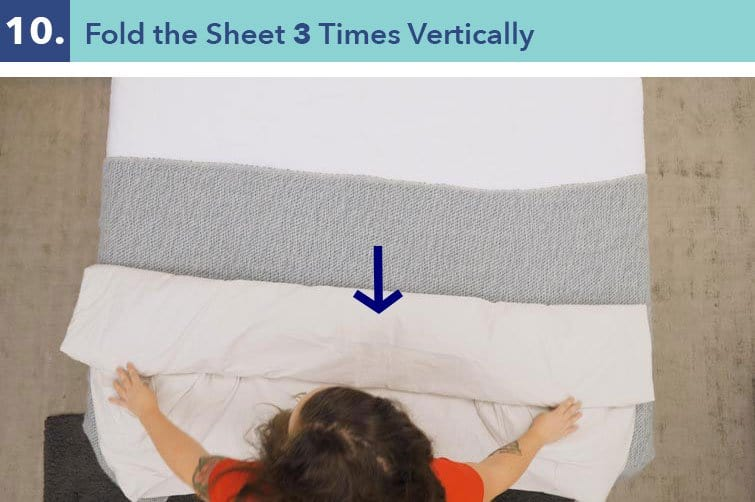 How to fold a fitted sheet-step ten