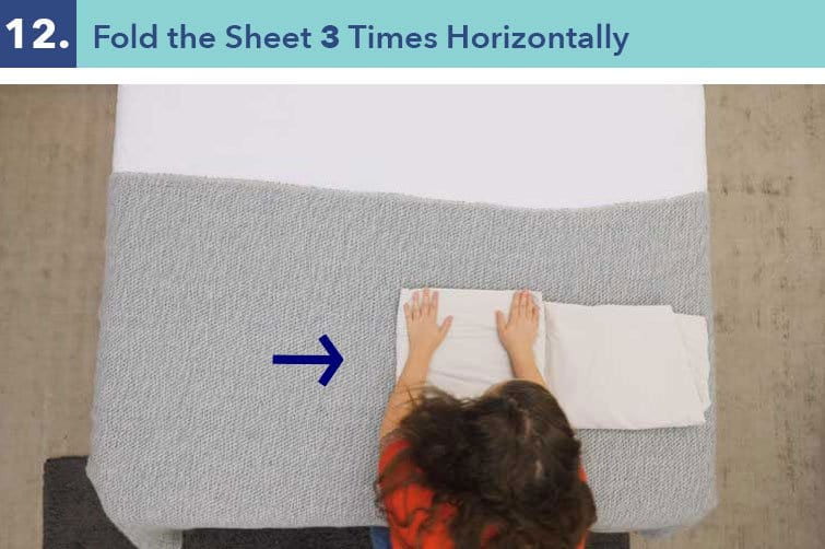 How to fold a fitted sheet-step twelve