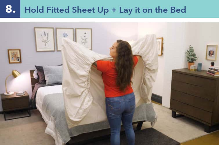 How to fold a fitted sheet-step eight