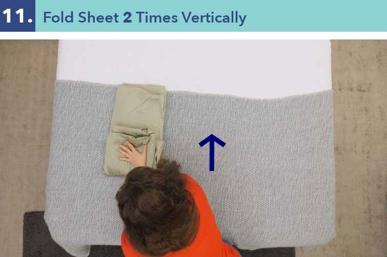 How to fold a fitted sheet-eleven