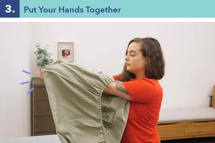 How to fold a fitted sheet-three