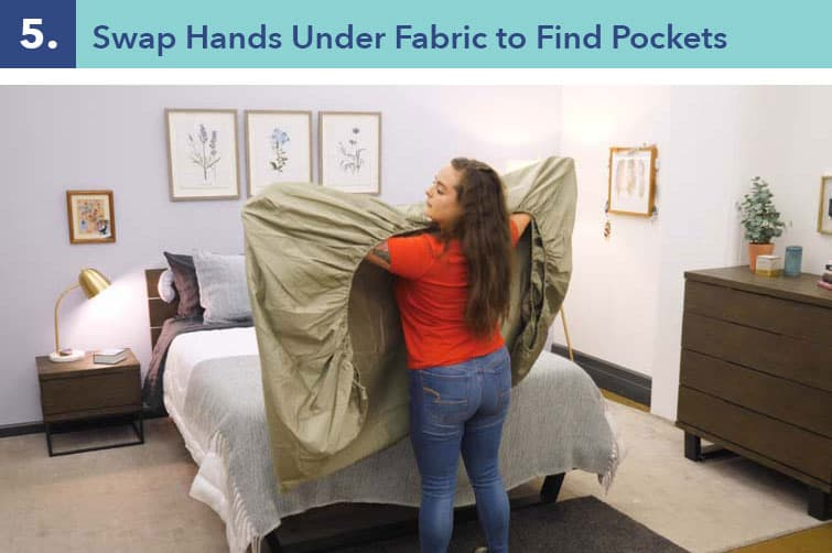 How to fold a fitted sheet-five