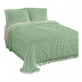 Collections Etc. Calista Chenille Lightweight Bedspread