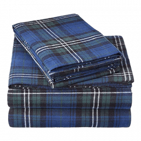 Pinzon Plaid Flannel Sheet Set