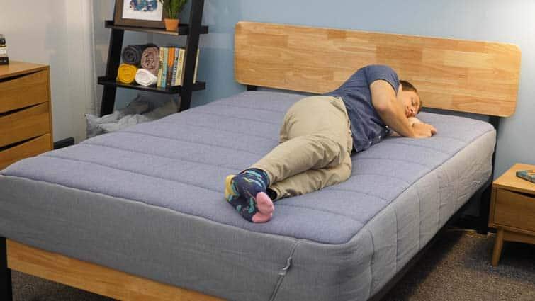 Side sleeping on the Tuft & Needle Hybrid mattress