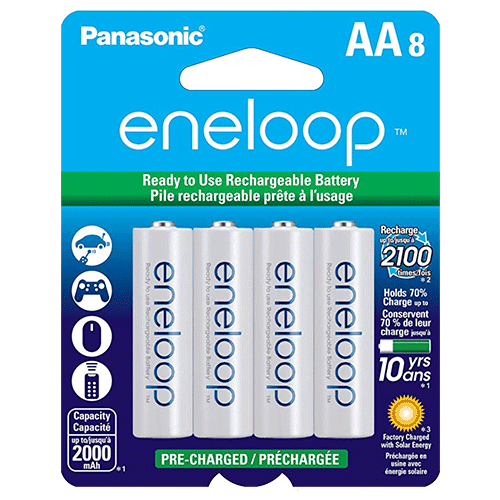 Panasonic eneloop AA Pre-Charged Rechargeable Batteries