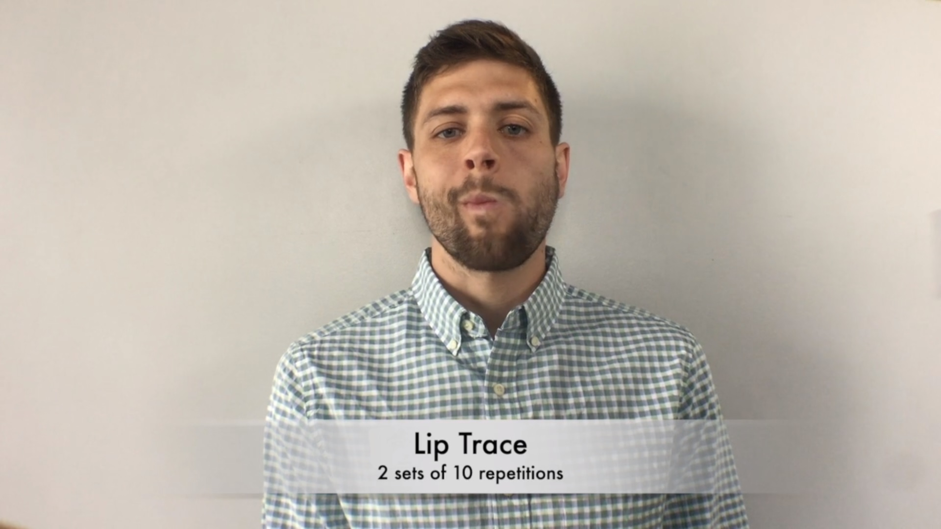 Lip trace pic, oral exercises article
