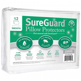 SureGuard 100% Waterproof Pillow Protectors