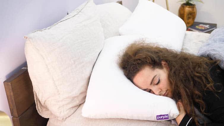 Purple Harmony stomach sleeping