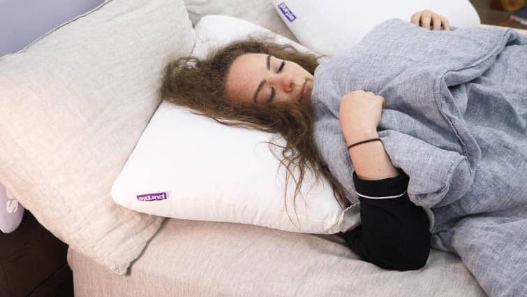 Purple Harmony back sleeping
