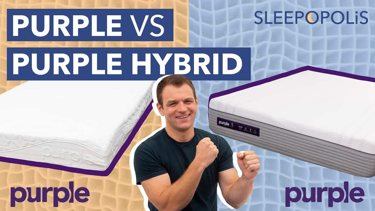 Original Purple Vs Purple Hybrid Mattress Review Sleepopolis