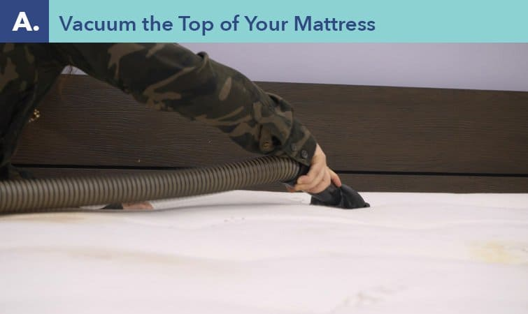 How to clean a mattress-step one