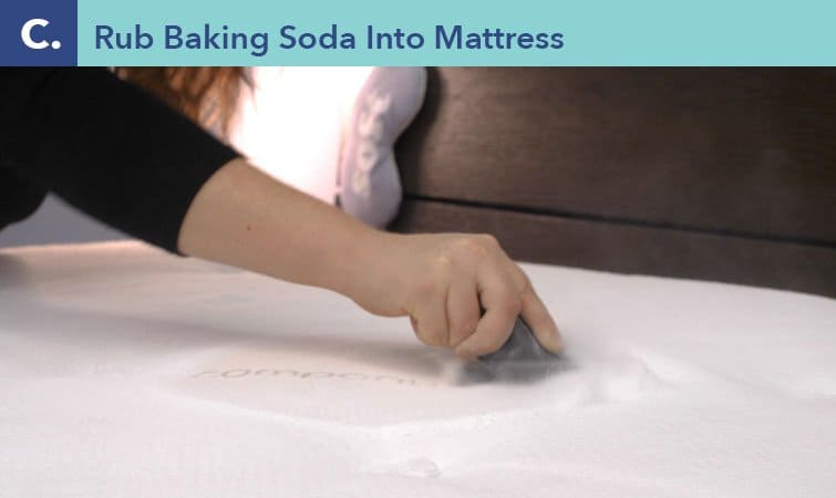 How to clean a mattress-step three