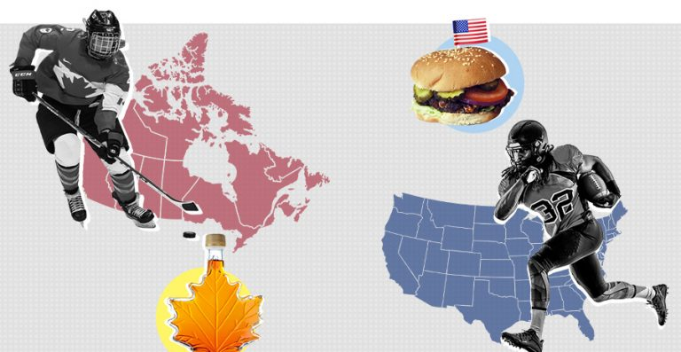 USA vs Canada graphic, countries image