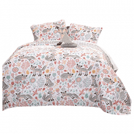 Lush Decor Pixie Fox Quilt Reversible 3-Piece Bedding Set