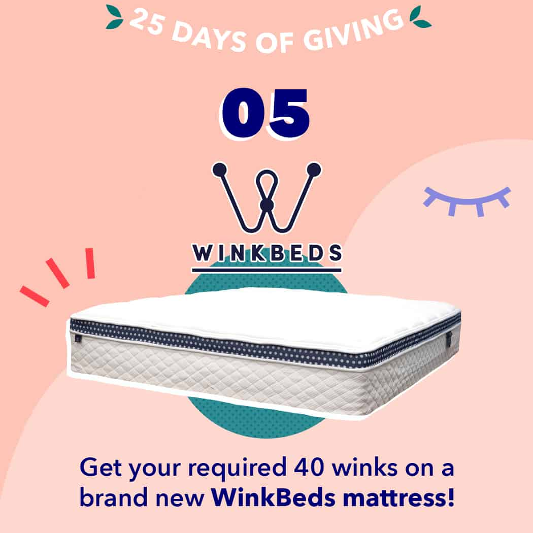 25 Days of Giving 2019 Winkbed