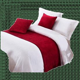 OSVINO Chenille Modern Bed Runner