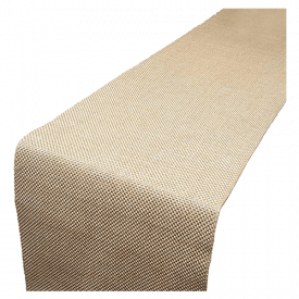 Parfair Dessin Burlap Jute Pattern Bed Runner