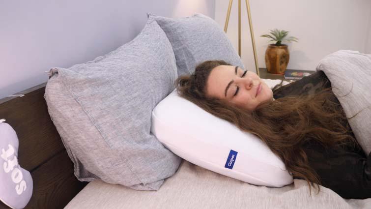 Casper Foam Pillow back sleeping