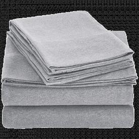 AmazonBasics Heather Cotton Jersey Sheet Set