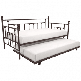 DHP Manila Metal Framed Daybed with Trundle