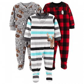 Simple Joys by Carter's Baby and Toddler 3-Pack Loose Fit Fleece Footed Pajamas