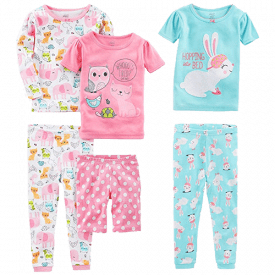 Simple Joys by Carter's Baby, Little Kid, and Toddler 6-Piece Snug Fit Cotton Pajama Set