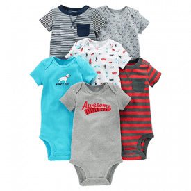 Simple Joys by Carter's Baby Short-Sleeve 6-Pack Bodysuit