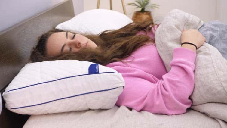 Nectar Pillow Back Sleeping