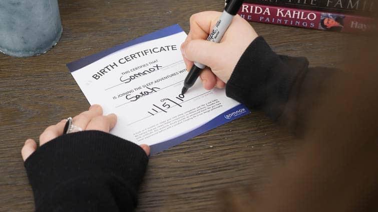 Somnox Birth Certificate