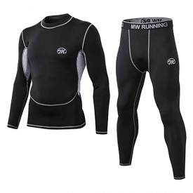 MeetHoo Men's Compression Base Layer Thermal Underwear Set