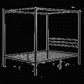 Zinus Patricia Metal Canopy Platform Bed Frame