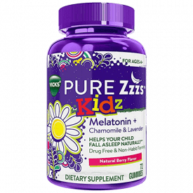 ZzzQuil Pure Zzzs Kidz Melatonin Sleep Aid Gummies