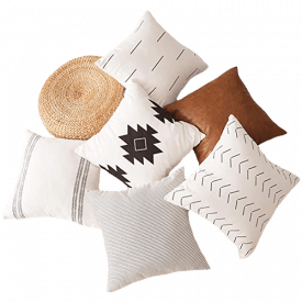 HOMFINER Set of 6 Decorative Throw Pillow Covers