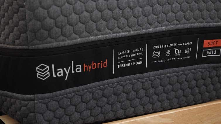 Layla Hybrid Mattress Tag