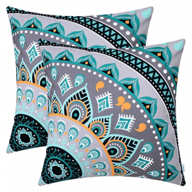 CaliTime Canvas Throw Pillow Covers