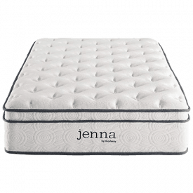 "Modway Jenna 10"" Quilted Pillow Top Mattress"
