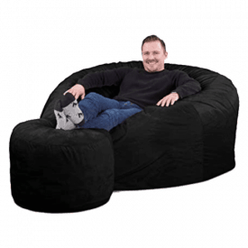 Ultimate Sack Bean Bag Chair with Foot Stool