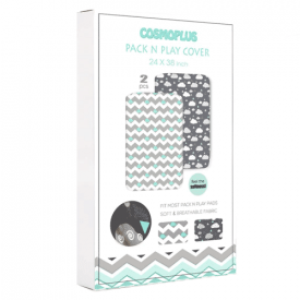 Cosmoplus Pack 'n' Play 2-Pack Playard Sheets