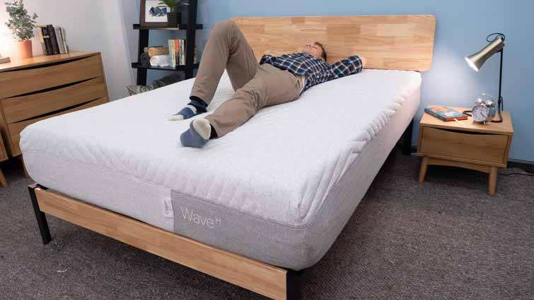 Casper Wave Hybrid Back Sleeping