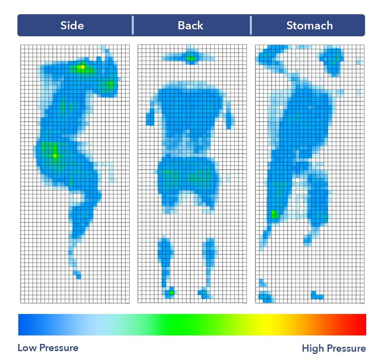 Idle Sleep Latex Pressure Map