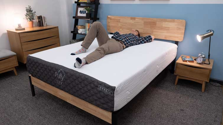 Puffy Lux Hybrid Back Sleepers