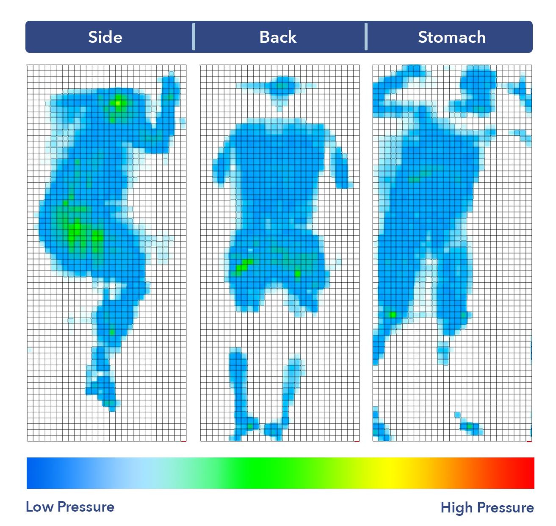 Snuggle-Pedic Supreme Plush Pressure Map