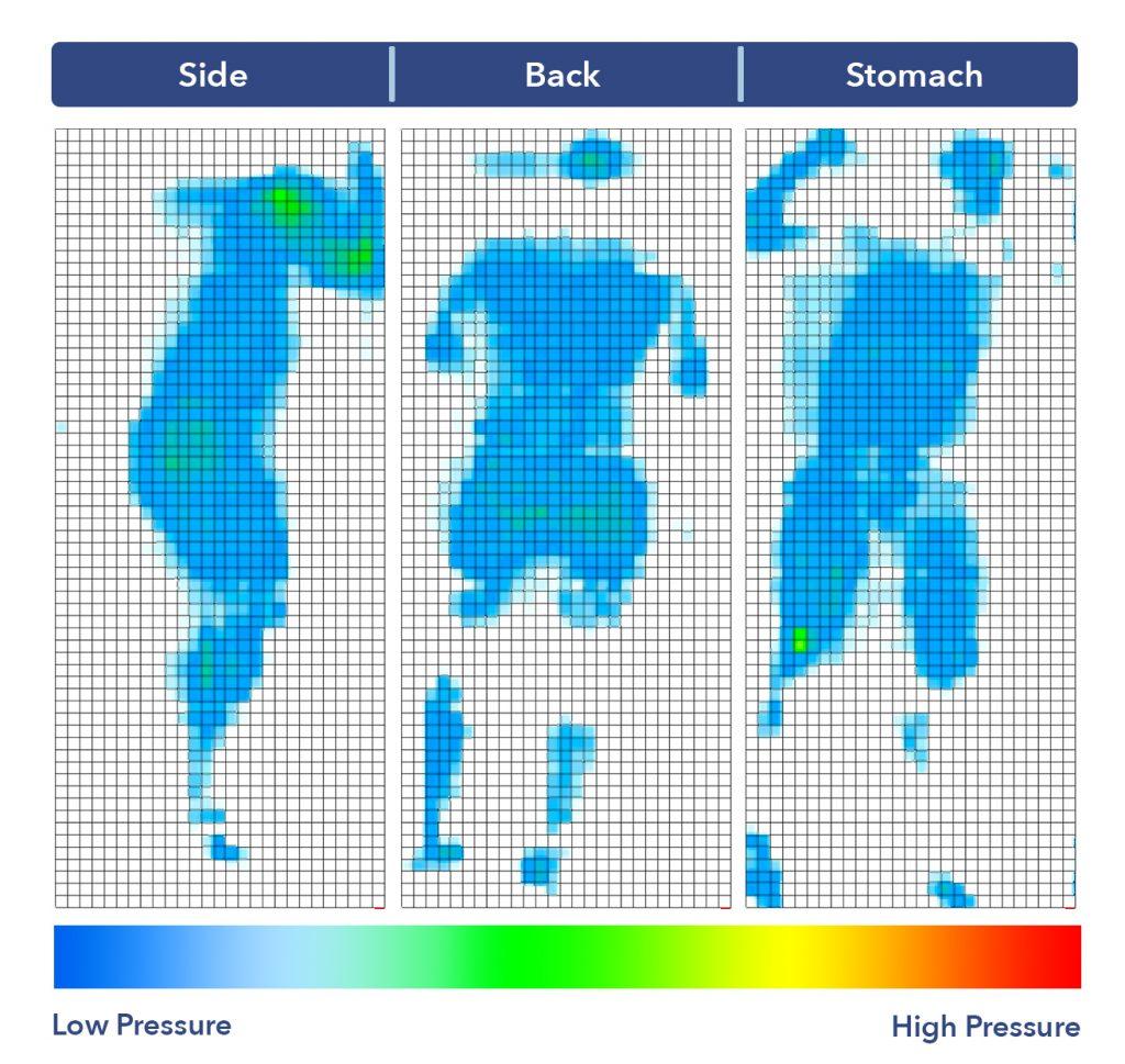 Dreamfoam Elements Latex pressure map