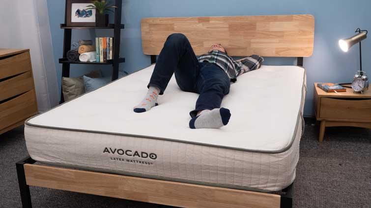 Back sleeping on the Avocado Latex