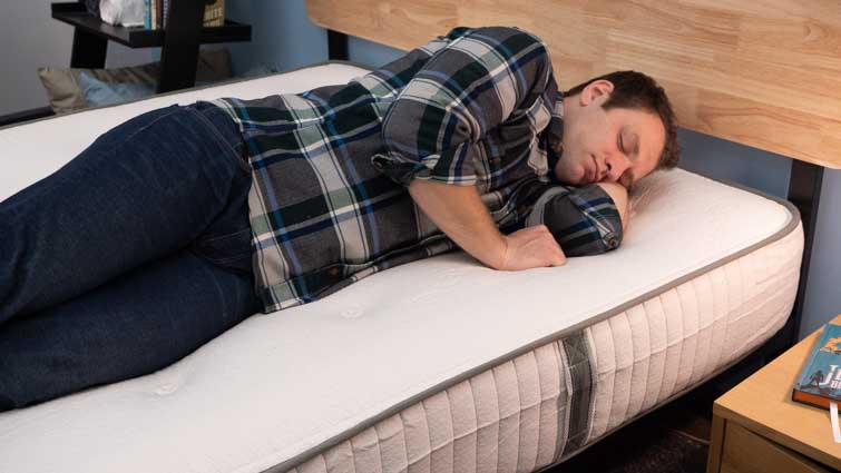 Side Sleeping on the Avocado Latex